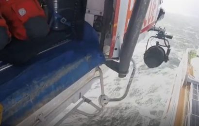 Moment helpless passengers are airlifted from stricken Viking Sky cruise ship