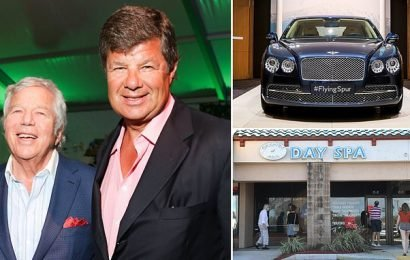 Robert Kraft borrowed his friend's Bentley to be driven to Florida spa