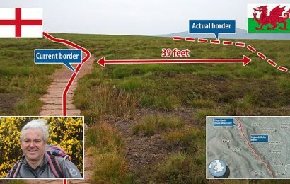 Welsh hillwalker discovers English border with Wales wrongly marked