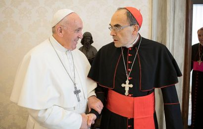 Pope 'REFUSES to accept resignation of French cardinal'