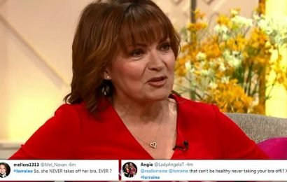Lorraine Kelly sparks concern as she NEVER takes her bra off