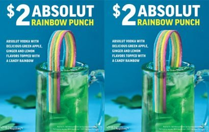 """Applebee's Drink Of The Month Is """"Rainbow Punch"""" — And It's Only $2"""