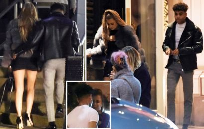 Georgia Steel spotted kissing Malique Thompson-Dwyer before taking him back to her hotel during Celebs Go Dating filming
