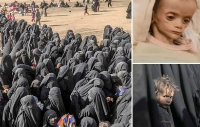 Hundreds of ISIS jihadis and their starving families surrender as last fragment of Syrian 'caliphate' collapses