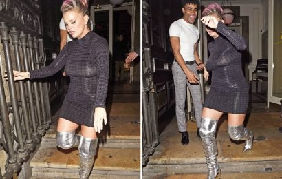 Kerry Katona goes boozing with Celebs Go Dating stars and Hollyoaks' Jennifer Metcalfe in Liverpool