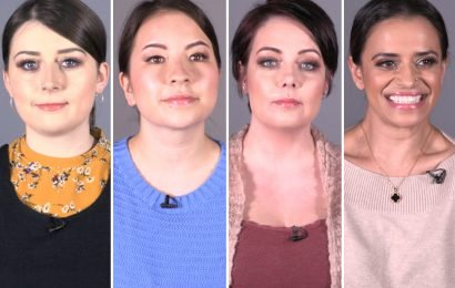 Four make-up loving women dare to bare on International Women's Day – so will they feel more confident slap-free?