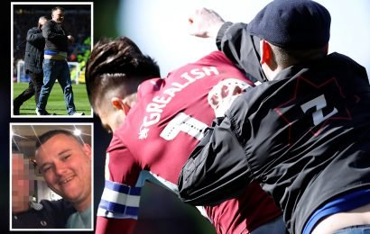 Idiot Birmingham City fan who punched Jack Grealish named as young dad Paul Mitchell