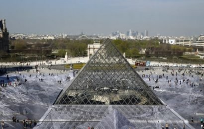 Artist JR Made The Louvre's Pyramid Fall Into a Pit on Its Birthday