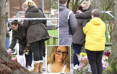 Jodie Chesney's heartbroken mum visits playground where her 17-year-old girl was knifed to death – as neighbours report 'arguing and screams'