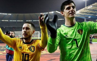 Thibaut Courtois tells best mate Eden Hazard to leave Chelsea and join him at Real Madrid