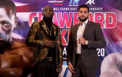 Amir Khan vs Terence Crawford: TV channel, live stream, undercard and start time for WBO welterweight showdown