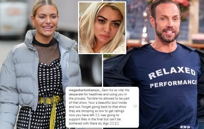 Megan Barton Hanson slams 'vile' Jason Gardiner for 'bullying' Gemma Collins as she reveals she'll miss Dancing On Ice final to avoid his 'sly digs'