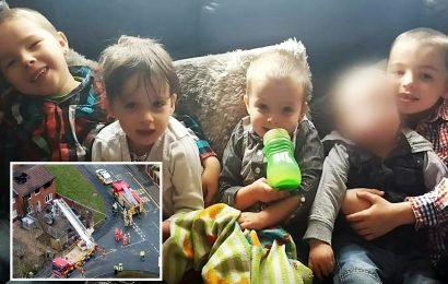 Family of four young children killed in Stafford house fire ask locals to put teddies in windows for street procession before funeral today