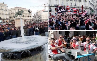 Ajax fans light up Madrid ahead of Champions League clash with Real