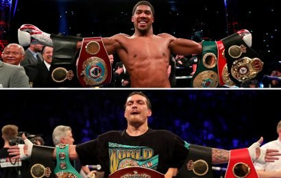 Anthony Joshua is being lined up to fight unbeaten Oleksandr Usyk after 'Big Baby Miller', claims Eddie Hearn