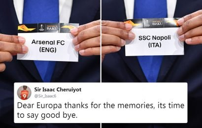 Depressed Arsenal fans give up on Europa League glory after getting nightmare draw against Napoli