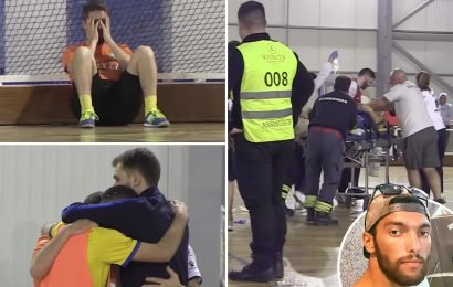 Portuguese futsal star Fabio Mendes dies on court aged 28 from heart attack as fans and players watch on in horror