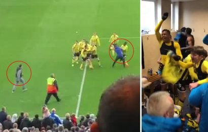 Furious Stockport fans attack Fylde players on pitch and in dressing room after FA Trophy semi-final win