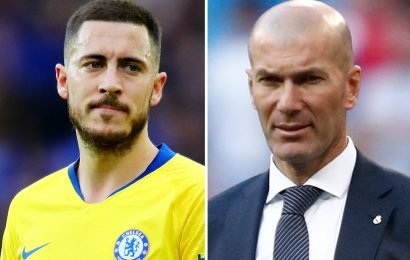 Hazard sends chills down Chelsea fans' spines by saying he 'started playing football because of Real Madrid boss Zidane'