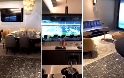 First look at the luxury hospitality boxes at Spurs' delayed £1bn stadium in latest behind-the-scenes footage