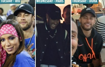 Neymar jets to Qatar for treatment following Man Utd penalty rage after less than 48 hours in Paris