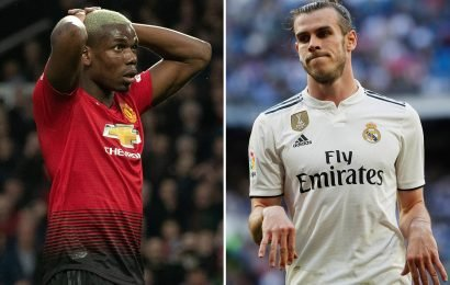 Man Utd 'could flog Paul Pogba to Real Madrid if they get Gareth Bale in return'