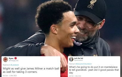 Man Utd fans can't resist trolling Liverpool after Klopp revealed Alexander-Arnold kept match ball for three assists after Watford win