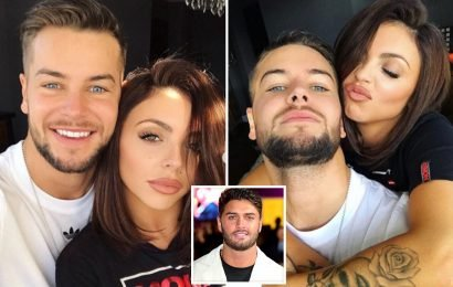 Jesy Nelson holds boyfriend Chris Hughes close as they spend day together after Mike Thalassitis is found dead