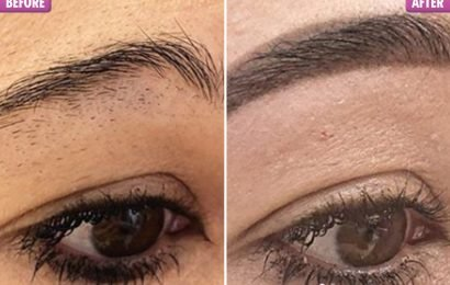 Woman admits she uses a razor to shave her eyebrows before being given a shock transformation