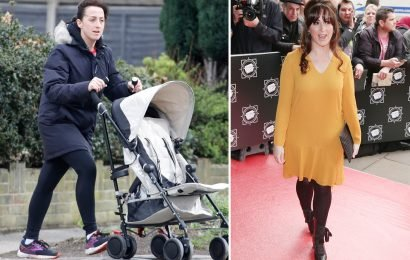 Natalie Cassidy shows off three stone weight loss after London Marathon training