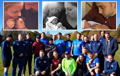 Grieving dads form most heartbreaking football team in Britain, wearing the names of their 'lost angels' on their shirts
