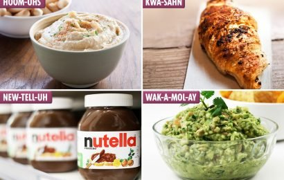 Guacamole, hummus, croissant, Nutella — trendy foods you've been pronouncing wrong and how to say them