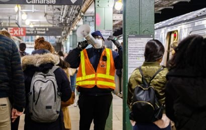 Commuters alarmed by thick dust covering Bedford Avenue station