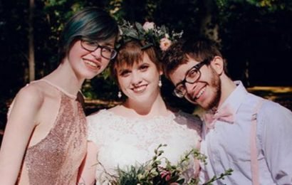 Polyamorous bride falls for bridesmaid at her wedding… and they now live as a threesome