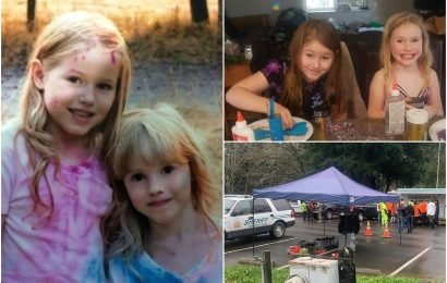 Desperate hunt for sisters, 5 and 8, who vanished in woods as search teams track their trail of snack wrappers