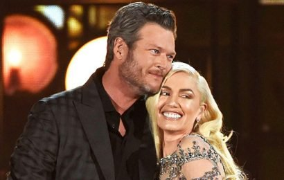 Gwen Stefani Kisses Blake Shelton In Family Group Hug After His Plane Lands — Watch