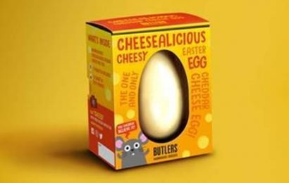 Sainsbury's is selling an Easter egg made from spreadable CHEESE