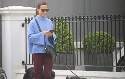 Pippa Middleton Goes on a Stylish Stroll With Her Dogs in London