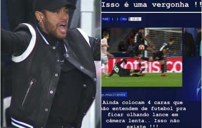 Neymar launches furious Instagram rant after PSG are denied Champions League quarter-final place by VAR