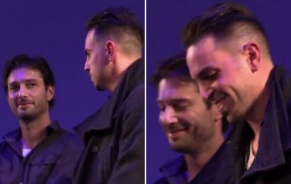 Michael Jackson superfans are convinced this footage of Wade Robson and James Safechuck smirking at each other is proof they're lying about abuse