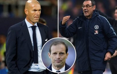 Chelsea could lose Zidane to Juventus if they don't act now as Allegri tells pals he WILL leave in summer