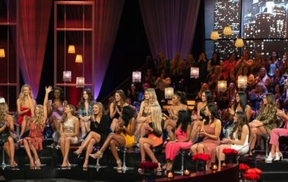 Where is Cassie during 'The Bachelor' Women Tell All episode?