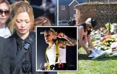 Keith Flint funeral LIVE: Prodigy star's wife Mayumi Kai joins fans to pay tribute