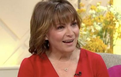 Lorraine Kelly GRABS boobs in dangerously plunging top for racy underwear confession