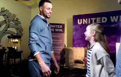 Stephen Curry surprises girl who helped design his new sneaker