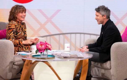 All apologies – Lorraine Kelly apologises to Aidan Gillen over 'fiancée' gaffe and to viewers for Colin Farrell's swearing