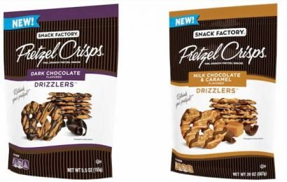 Snack Factory Pretzel Crisps' New Drizzlers Flavors Include Bites Covered In Chocolate