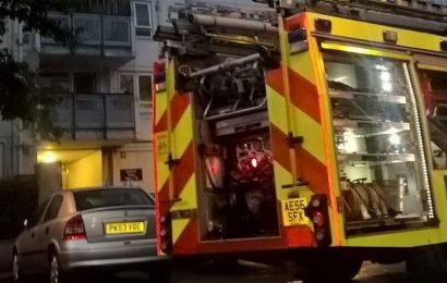 Fire breaks out in tower block used as Del Boy's home in Only Fools and Horses