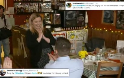 Jilted' John proposes to ex-fiancee on live TV after she dumped him