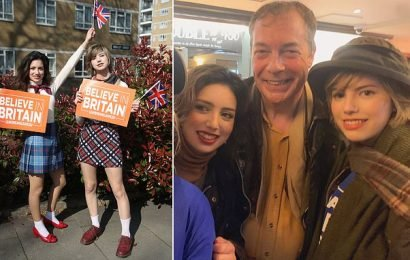 Nigel Farage's fan-girls revealed as privately educated teen sisters